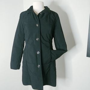 Talbots black jacket coat lined small